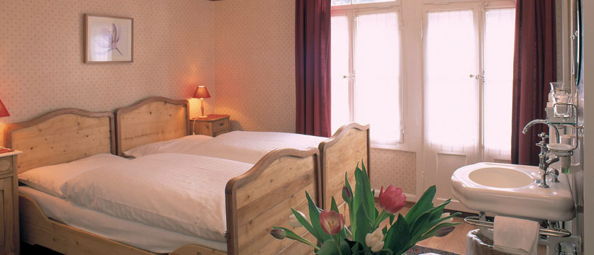 Hotel Falken, Wengen, Bernese Oberland, Switzerland - twin bedroom.jpg